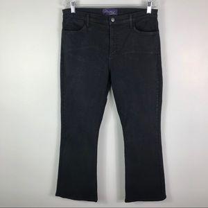 NYDJ black denim bootcut stretch jeans 16 petite